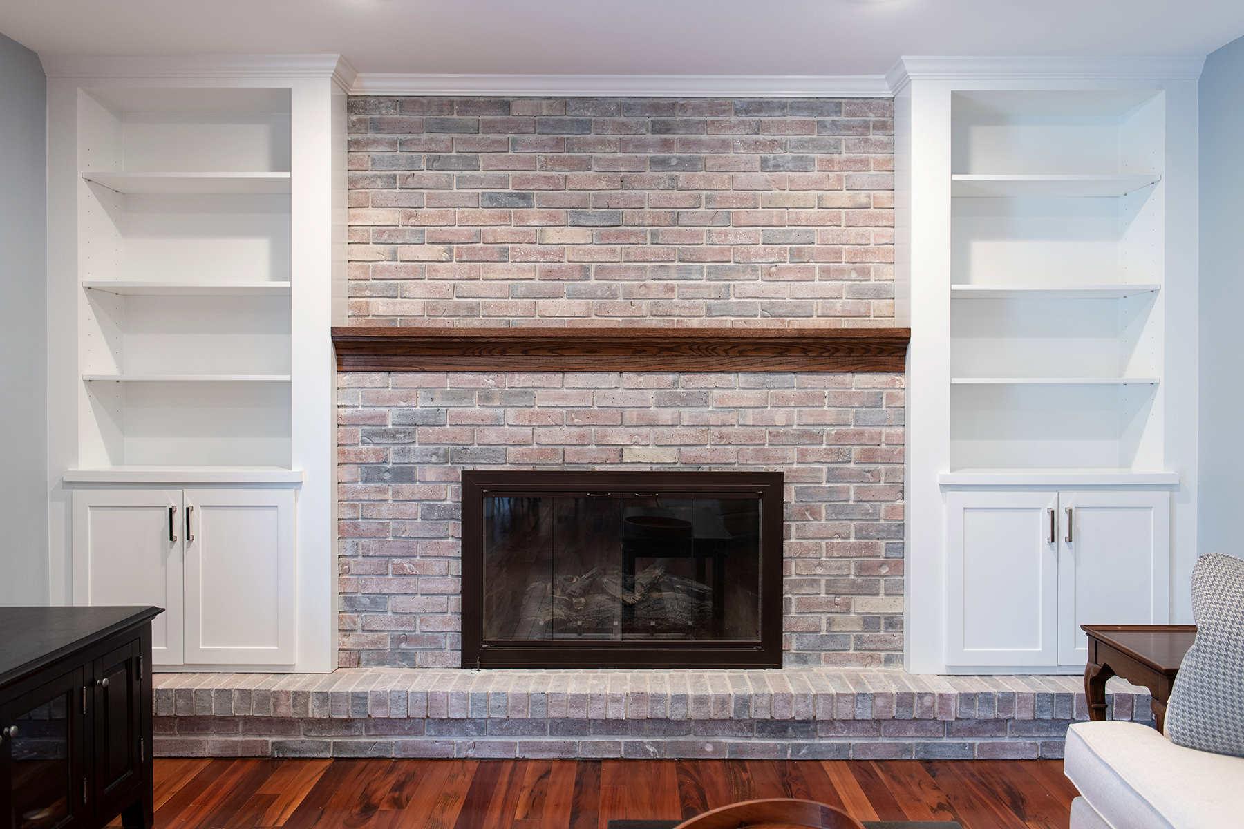 Living room remodel in Libertyville, Illinois