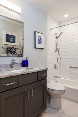 Full length bathroom remodel
