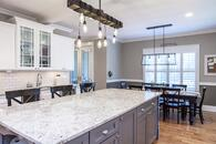 Gorgeous countertops and amazing lighting fixtures