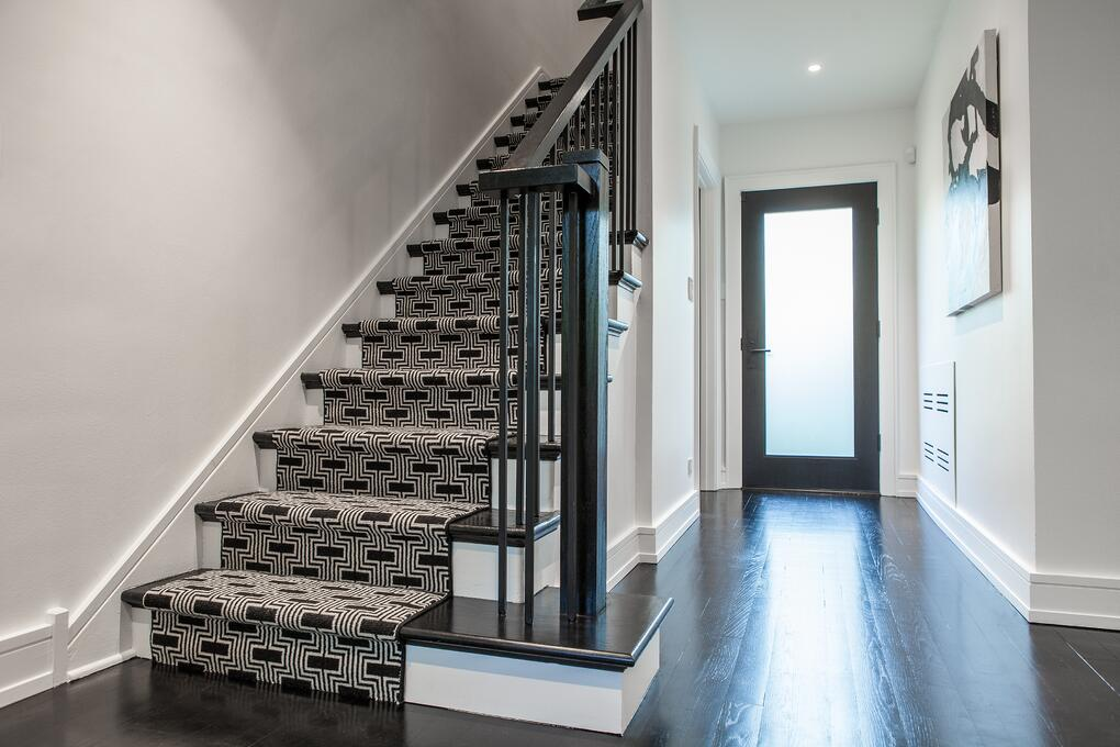 Beautiful stairway and entry