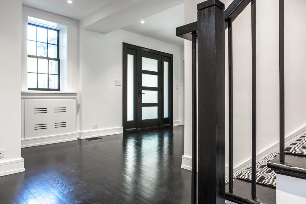 Stark contrasts - dark and light entryway