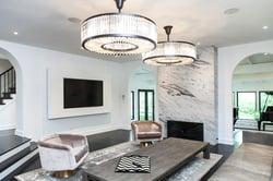 Stunning modern living room space