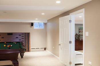 Basement remodel - a new game room