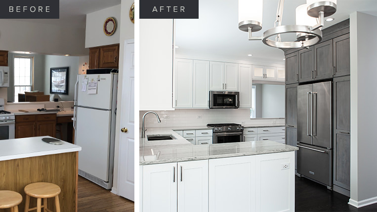 Home kitchen remodel in Lake Zurich by BDS Design Build Remodel