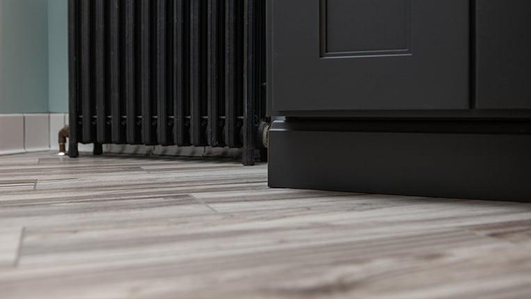 Ceramic wood look flooring
